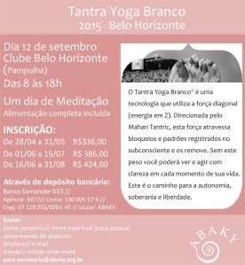 Tantra Yoga Branco em Belo Horizonte-2015